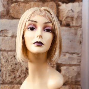 Blonde human hair short bob Lacefront 2020